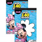 Disney Junior Minnie Mouse Bowtique Over 140 Temporary Tattoos Booklets (2pc Set)