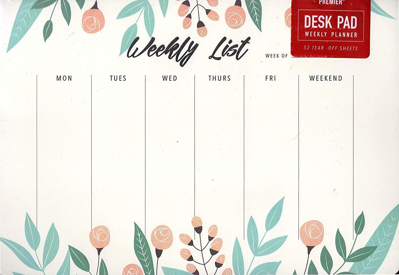 "Desk Pad Weekly Planner Calendar 9.75"" X 7"" - v2"