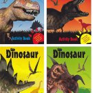 Set of 4 Dinosaur Activity Books ~ Fun Facts, Puzzles, Coloring, Jokes & More! Children's