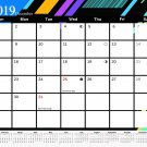2019 Monthly Magnetic/Desk Calendar - 12 Months Desktop/Wall Calendar/Planner - (Edition #5)