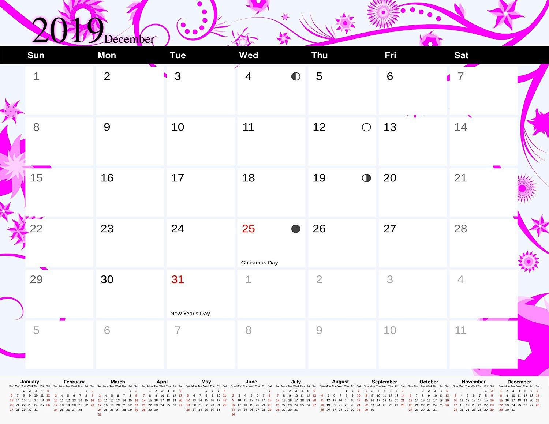 2019 Monthly Magnetic/Desk Calendar - 12 Months Desktop/Wall Calendar/Planner - (Edition #6)