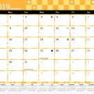 2019 Monthly Magnetic/Desk Calendar - 12 Months Desktop/Wall Calendar/Planner - (Edition #7)