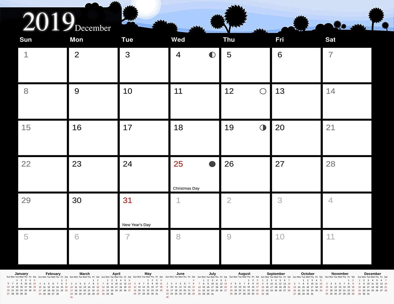 2019 Monthly Magnetic/Desk Calendar - 12 Months Desktop/Wall Calendar/Planner - (Edition #9)