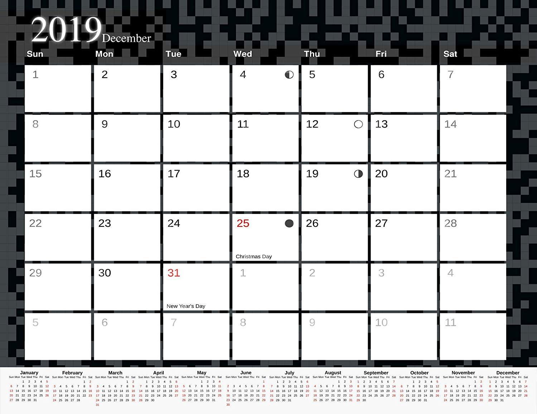 2019 Monthly Magnetic/Desk Calendar - 12 Months Desktop/Wall Calendar/Planner - (Edition #11)