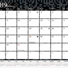 2019 Monthly Magnetic/Desk Calendar - 12 Months Desktop/Wall Calendar/Planner - (Edition #11)