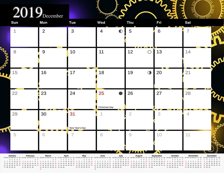 2019 Monthly Magnetic/Desk Calendar - 12 Months Desktop/Wall Calendar/Planner - (Edition #12)