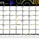2019 Monthly Magnetic/Desk Calendar - 12 Months Desktop/Wall Calendar/Planner - (Edition #12)