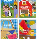 School Zone Set of 4 Board Books for Kids: ABC, Numbers, Shapes and Colors Pack of 4.
