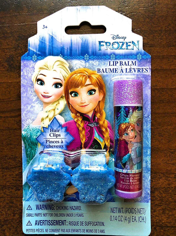 Disney frozen lip balm Blueberry and hair clip