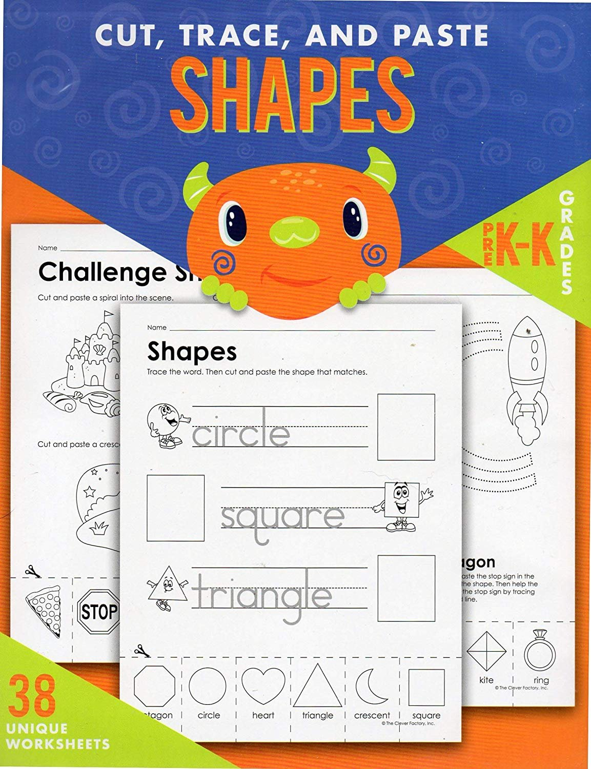 Cut, Trace, and Paste Alphabet & Numbers - Reproducible Educational Workbook - Teacher Approved