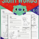 Sight Words Educational Workbook Reproducible - Teacher Approved - Grades K-1