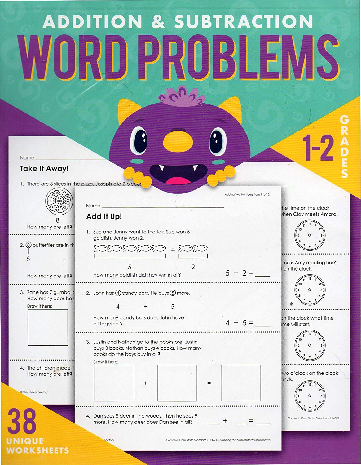 Teaching Tree Addition and Subtraction Word Problems Reproducible - Grades 1-2 -v3