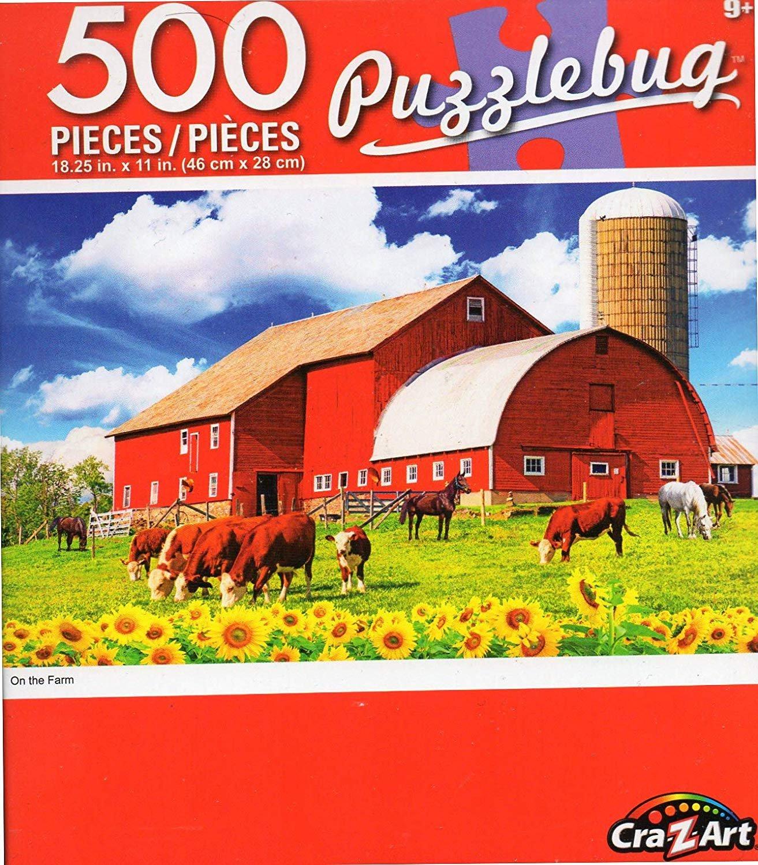 Cra-Z-Art On The Farm - Puzzlebug - 500 Piece Jigsaw Puzzle