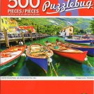 Cra-Z-Art Colorful Wooden Boats, Lake Garda, Torbole Town, Italy - 500 Piece Jigsaw Puzzle