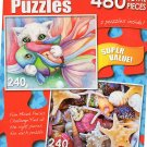 Fish Lover / Olga Yatsenko - Seashells and Starfishes - Total 480 Piece 2 in 1 Jigsaw Puzzles