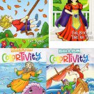 Colortivity Bible Fun - Read and Color Coloring & Activity Book - Set of 4 Books