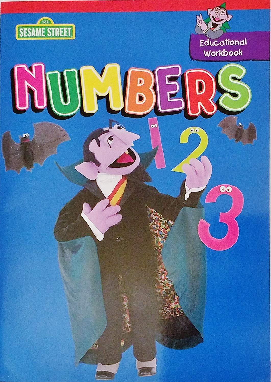 Educational Workbook Numbers Counting 1 2 3 (Learn School Homeschool Practice - Fun!)