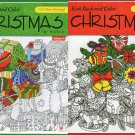 Christmas Adult Coloring Book Kick Back and Color to Music Volume 1 - (Set of 2 Books)