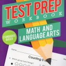 Kindergarten Grade Math & Language Arts Test Prep Workbook (Aligned with Common Core Standards) v3