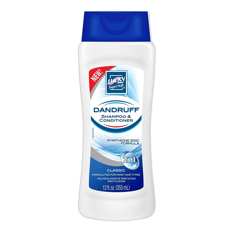 Lucky Super Soft 2-in-1 Dandruff Shampoo & Conditioner, 12 Ounce