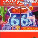 Cra-Z-Art Route 66 Neon Signs Puzzlebug - 500 Piece Jigsaw Puzzle