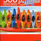 Cra-Z-Art Row of Colorful Kayaks Puzzlebug - 500 Piece Jigsaw Puzzle