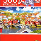Cra-Z-Art Wooden Houses on The Harbor Puzzlebug - 500 Piece Jigsaw Puzzle