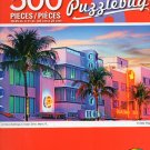 Art Deco Buildings on Ocean Drive, Miami, FL Puzzlebug - 500 Piece Jigsaw Puzzle