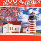 Cra-Z-Art West Quoddy Head Lighthouse, Lubec, Maine - Puzzlebug - 300 Piece Jigsaw Puzzle