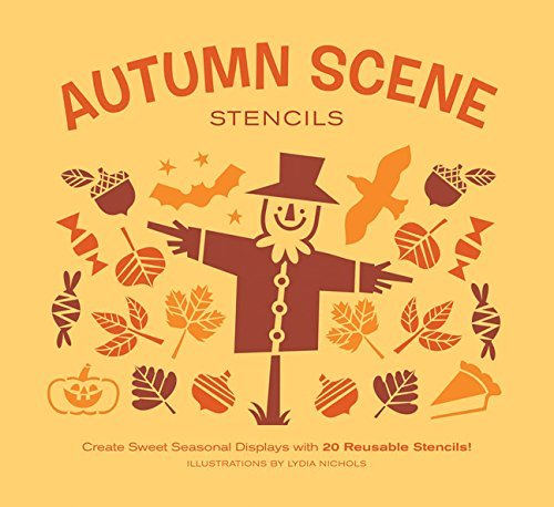 Autumn Scene Stencils: Create Sweet Seasonal Displays with 20 Reusable Stencils!