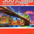 Cra-Z-Art Tower at Night, East River, New York. - 300 Piece Jigsaw Puzzle