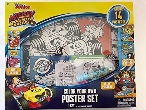 Disney Junior Mickey and the Roadster Racers Color Your Own Poster Set
