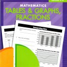 Mathematics Tables & Graphs, Fractions - Aligned with Standards Based Social Studies - Grades 4 - 6