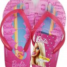 Barbie Flip Flops Sandals - Size L 12-13 (Kids)