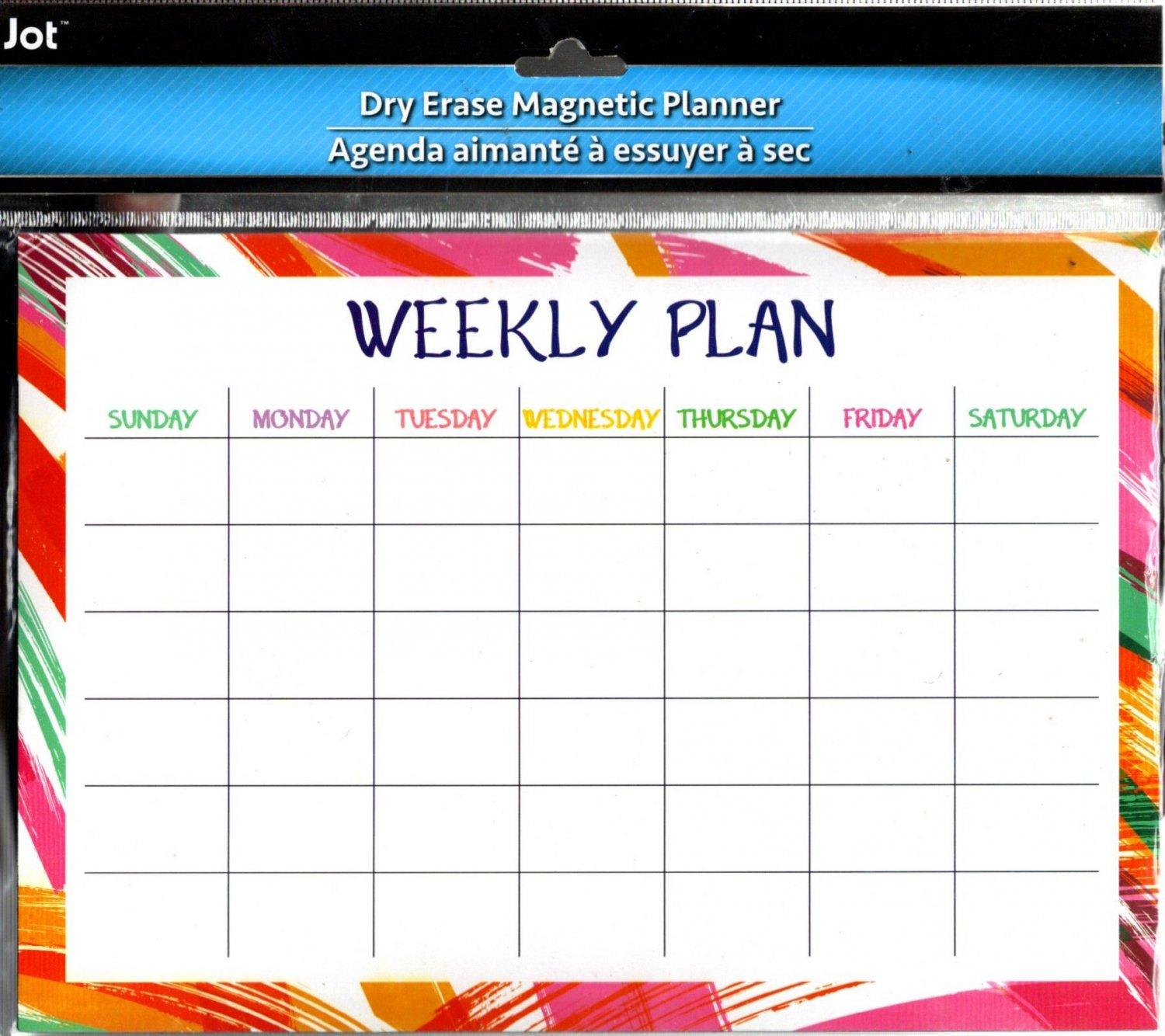 Magnetic Dry Erase Calendar - White Board Planner for Refrigerator/School Lockers -  v10
