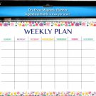 Magnetic Dry Erase Calendar - White Board Planner for Refrigerator/School Lockers -  v11
