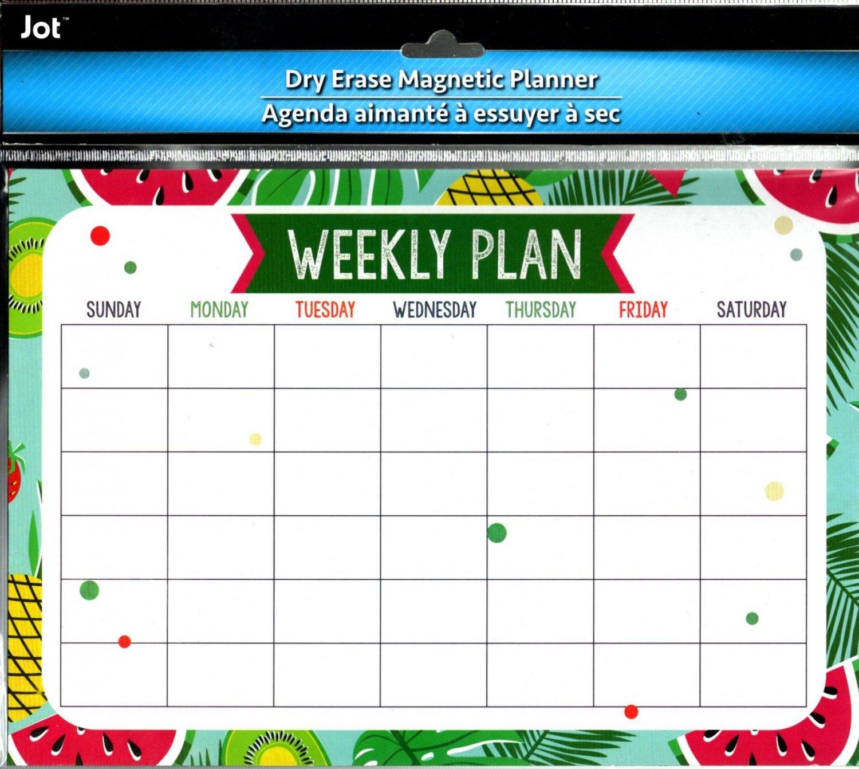 Magnetic Dry Erase Calendar - White Board Planner for Refrigerator/School Lockers -  v13