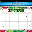 Magnetic Dry Erase Calendar - White Board Planner for Refrigerator/School Lockers -  v13