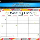 Magnetic Dry Erase Calendar - White Board Planner for Refrigerator/School Lockers -  v14