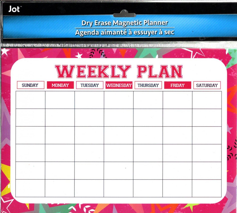 Magnetic Dry Erase Calendar - White Board Planner for Refrigerator/School Lockers -  v15