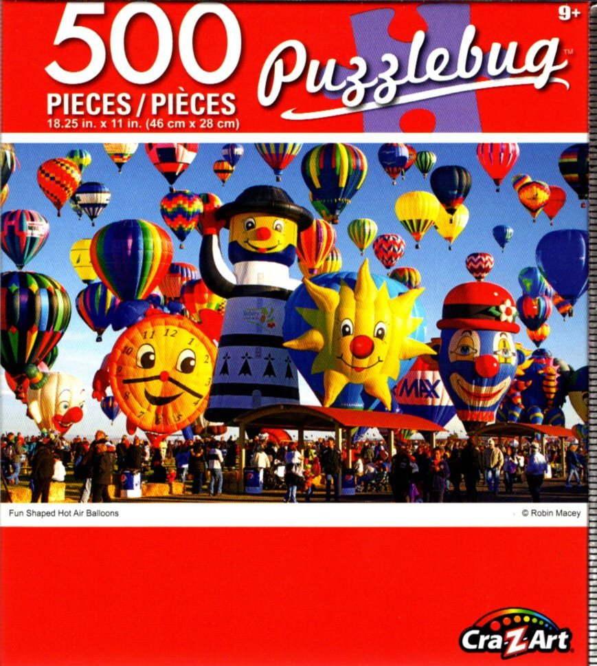 Cra-Z-Art Fun Shaped Hot Air Balloons - 500 Piece Jigsaw Puzzle - Puzzlebug