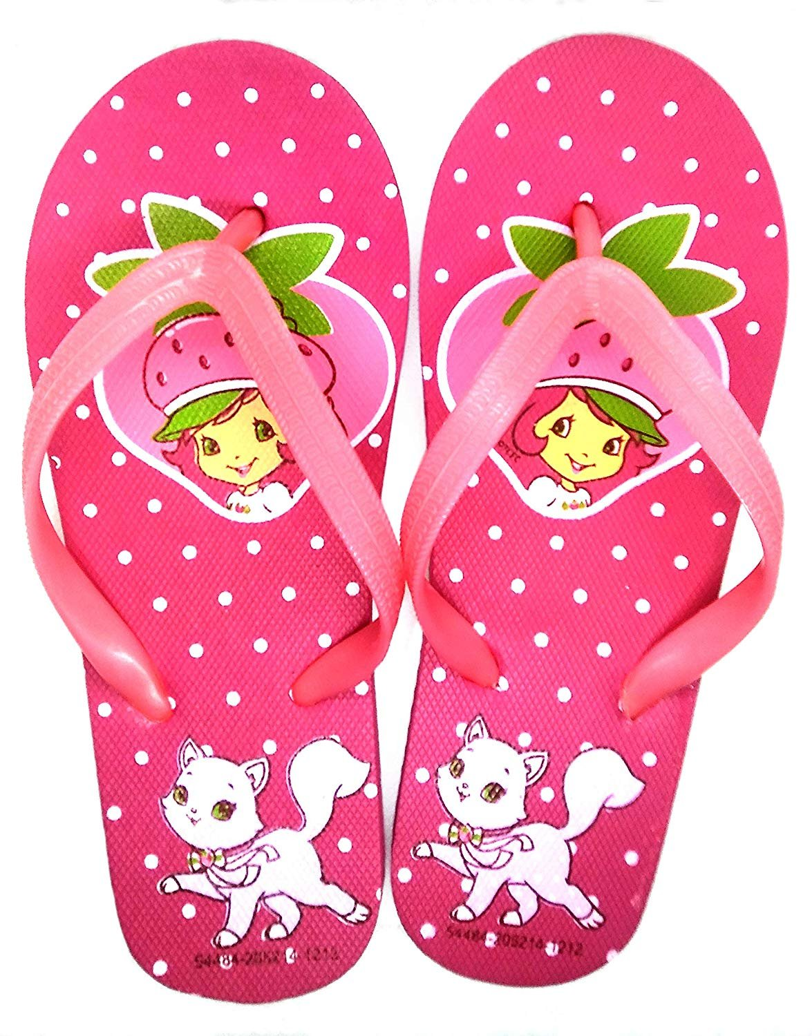 Strawberry Shortcake Flip Flops Sandals - Size 1-2 - Variation 1