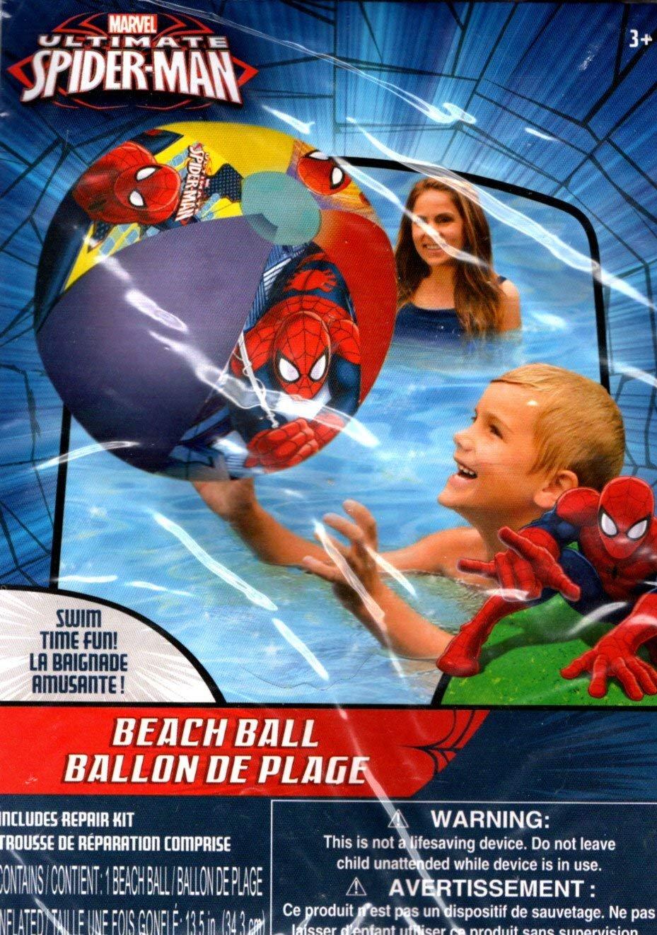 Marvel Spider-Man - Beach Ball - Includes Repair Kit - Swim Time Fun!