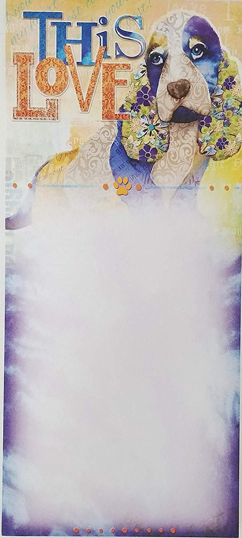 """This Love"" - Cocker Spaniel Dog Stylish Notepad Listpad 9 x 4 in"