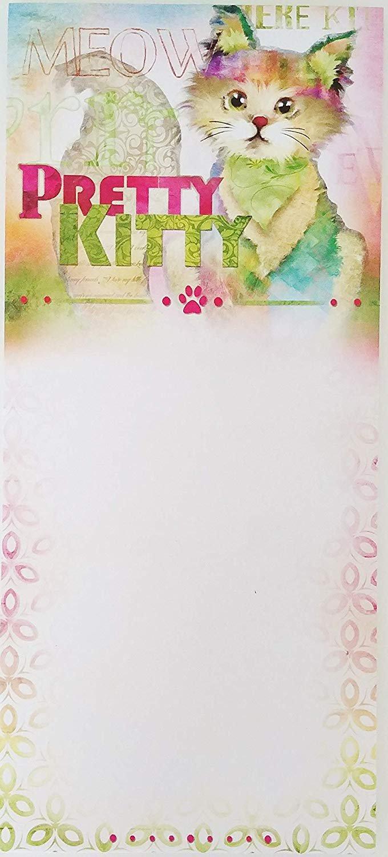 Meow Pretty Kitty - Stylish Notepad Listpad 9 x 4 in