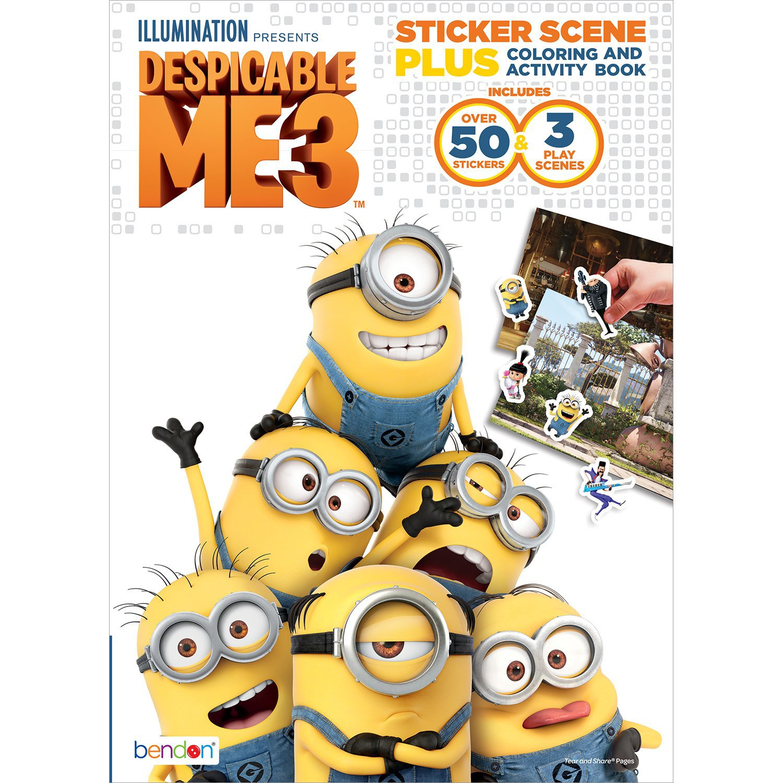 Despicable Me Bendon 3 Sticker Scene Plus Activity Book, 24 Pages (40918)