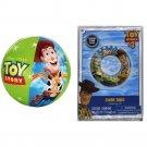 Toy Story Swim Float Ring & Beach Ball - Woody & Buzz Lightyear 4 Swim Set