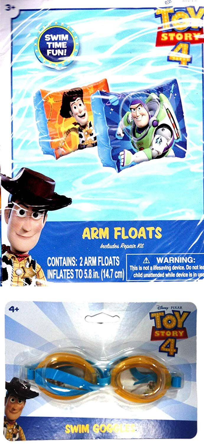 Disney Pixar Toy Story 4 - Arm Floats Includes Repair Kit - Swim Time Fun! + Toy Story 4  (2 Pack)