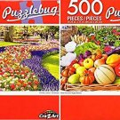 Fresh Fruit and Veggie Basket - Keukenhof Park, Netherlands - 500 Piece Jigsaw Puzzle (Set of 2)