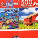 On The Farm - Tropical Fish Wonderful Water World - 500 Piece Jigsaw Puzzle (Set of 2)